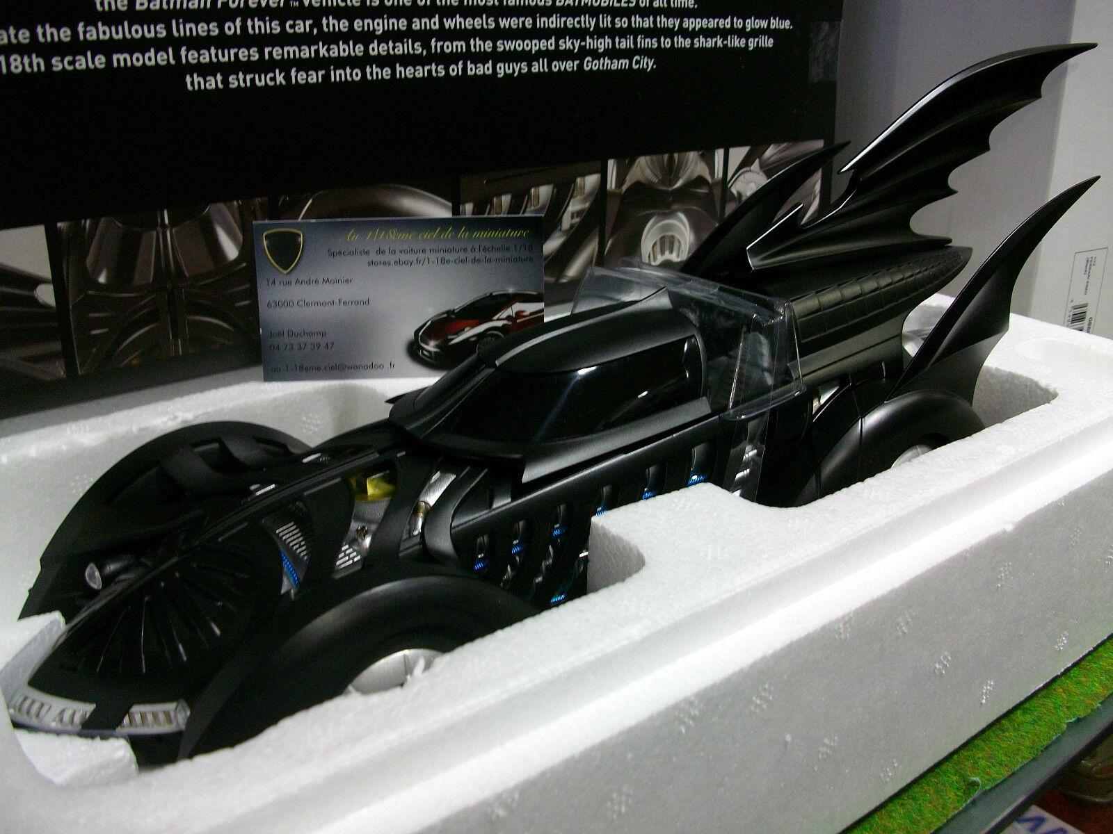 BATMOBILE BATMAN FOREVER 1995 noir 1 18 HOT WHEELS ELITE BCJ98 voiture miniature