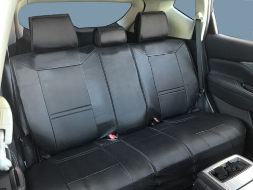 Black PU Leather Rear Car Seat Covers Cushion for Ford #802-01