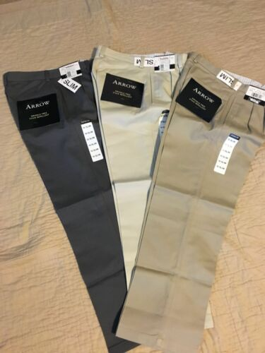 Uniform//Dress Pants: Gray 10Reg Pleated Front Arrow: Boy/'s Wrinkle Free 12Reg
