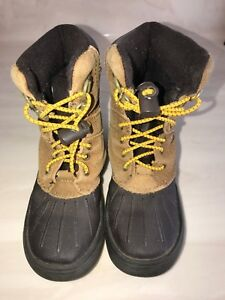 2e3268dc85b1d boys size 12 CHAMPION BROWN BOOTS lace up front footwear WINTER ...