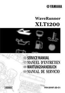 Yamaha Waverunner XLT 1200 2001 Service Manual, FREE SHIPPING