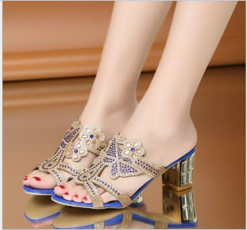 Rhinestone Slipper Women Synthetic Loafers Sandals Breathable Pumps Zsell