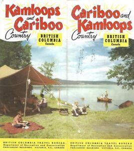 Prince George Canada Map.1953 Road Map Kamloops Cariboo British Columbia Canada Pge Railway