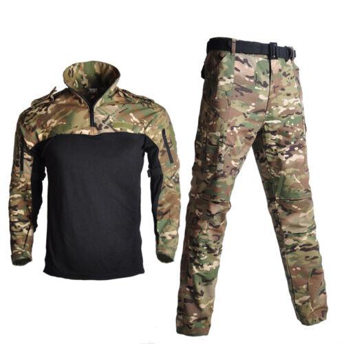 Herren Military Tactical Combat T-shirt Pants BDU Uniform Army Freizeit Anzug