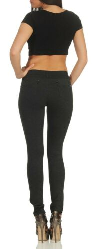 Skinny Jeans SLIM FIT Treggings Damen JEGGINGS enge 5 Pocket Jeans Röhre 34-44