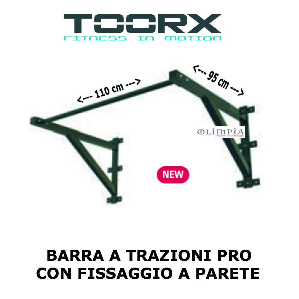Toorx BARRA SBARRA a a a MURO per TRAZIONI Pull UP BAR Professionale 110x95x60cm 6146a3