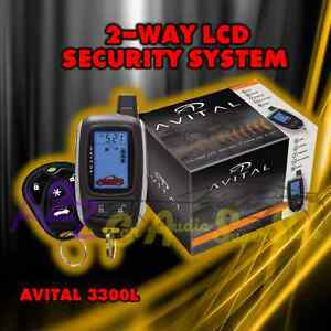 avital 3300l 2 way lcd security system w one lcd remote. Black Bedroom Furniture Sets. Home Design Ideas