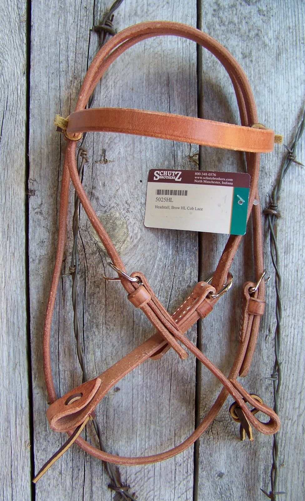 Headstall - Tie Cheek Harness Leather (Cob Size) by Schutz Bredhers