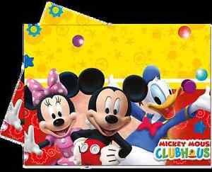 Disney-Mickey-Mouse-Clubhouse-Assiettes-Tasses-Serviette-Nappe-Sacs-Butins