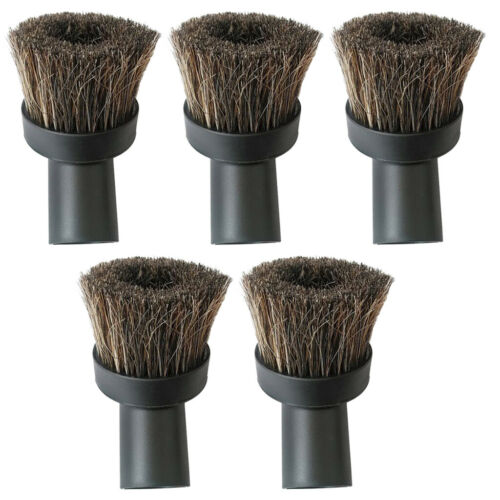 5x Round Horse Hair Dusting Brush Dust Clean Tool Attachment Vacuum Cleaner