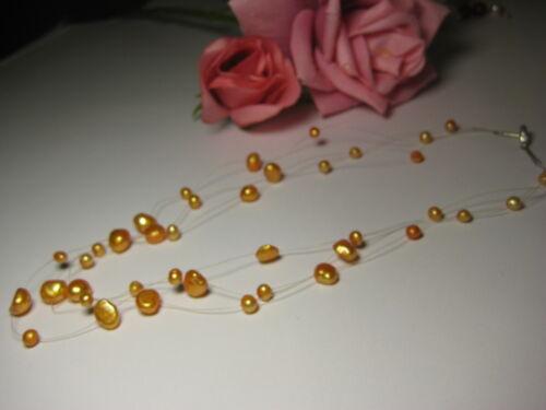 Schmuckset Halskette Ohrring echte Süßwasserperlen Perlen Schmuck Mode Stein