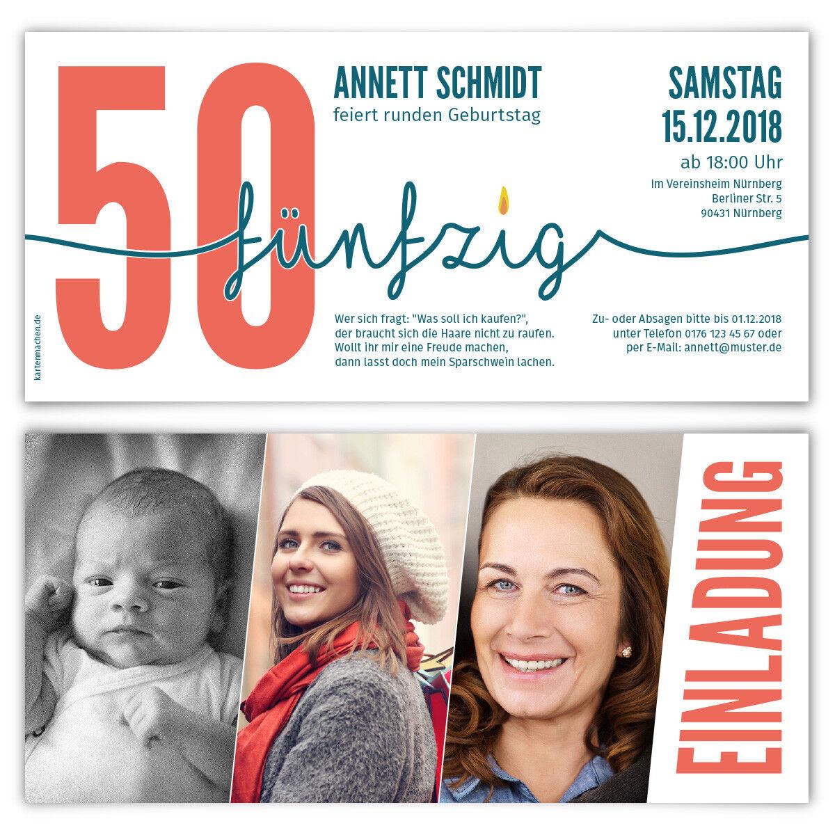 Einladung runder Geburtstag 50 Jahre Einladungskarten Karten - - - Foto Zeitstrahl | Zürich Online Shop  | Maßstab ist der Grundstein, Qualität ist Säulenbalken, Preis ist Leiter  5f4d2c