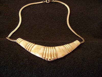 Halskette; Collier von Avon, goldfarbenmarmoriert; Damenschmuck, Geschenk | eBay