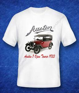 BRITISH-CLASSIC-1933-AUSTIN-7-034-RUBY-034-OPEN-TOURER-ENTHUSIASTS-T-SHIRT
