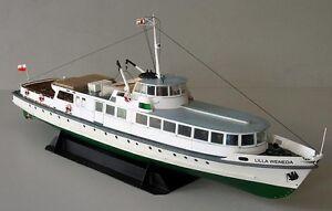 1:100 Scale Polish Baltic Fleet Coastal Ferry Lilla Weneda DIY PAPER MODEL