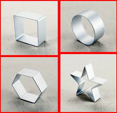 1set of square hexagon round star shaped Cookie Cake Sugar Metal Cutter Mould