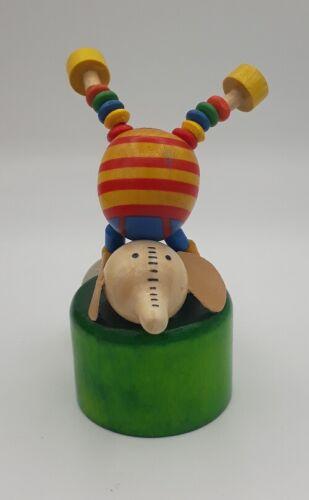 Cavalo De Circo Palhaço Veado Urso Leão Estatuetas De Madeira Brinquedo Fantoche Push oscilação Animal