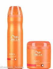 Combo Wella Professional Enrich Moisturizing Treatment Shampoo & Mask