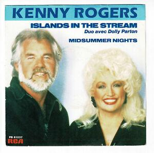 """Kenny Rogers Duo Dolly Parton Vinyl 45 Rpm 7 """" Sp Islands ..."""