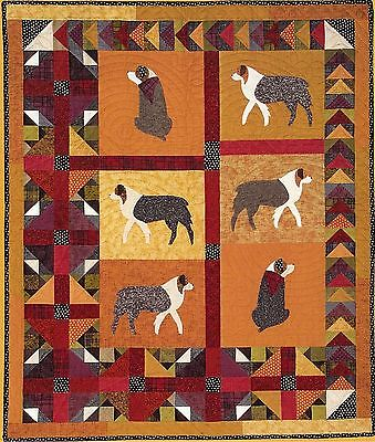 "New Quilt Pattern by Maw-Bell Designs  ""Gus On A Wild Goose Chase""  (48 x 58)"