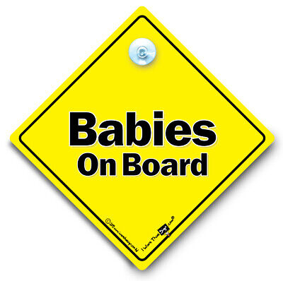 Babies Car Sign Suction Cup Car Sign Objective Babies On Board Sign Babies In Vehicle Fine Quality
