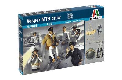 Dedito Vosper Mtb Crew (7 Unpaintd Figures) Plastic Kit 1:35 Model Italeri