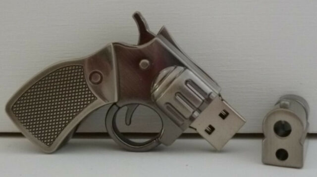 Flash Drive USB Memory Stick Pen New 8G Gun Metal Novelty Gift  School