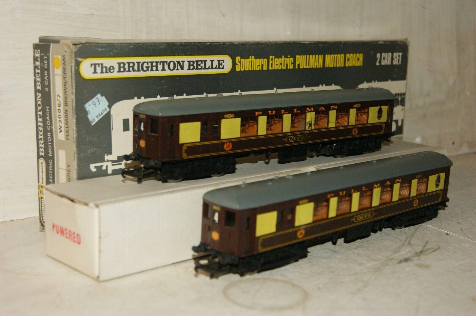 OO Gauge WRENN RAILWAYS 2 auto EMU W30067 Brighton Belle BR Marronee Cream scatolaED