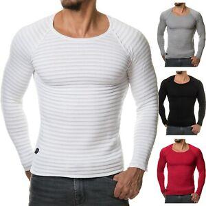Details zu Burocs BR1699 Herren Strick Pullover Sweater Fitness Muskel Slim Fit S XXL