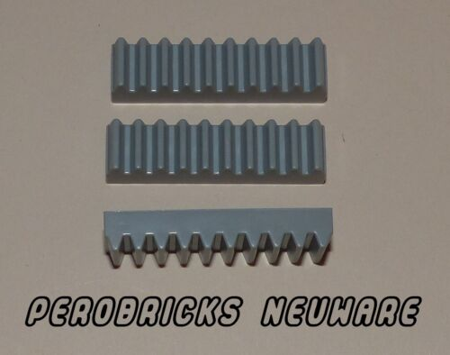 nuevo Lego Technic tecnología 3x cremallera//diente ferrocarril gris claro 1x4 #3743