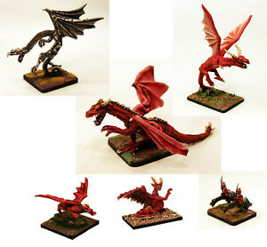 Details about 15mm-28mm Multi Scale Dragon Miniatures-Unpainted White  Metal-Resin Fantasy