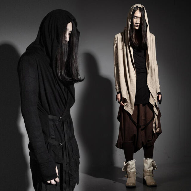 ByTheR Men's Casual Punk Dark Hood Cardigan Gothic Chic FJSELFAA0008039 UK