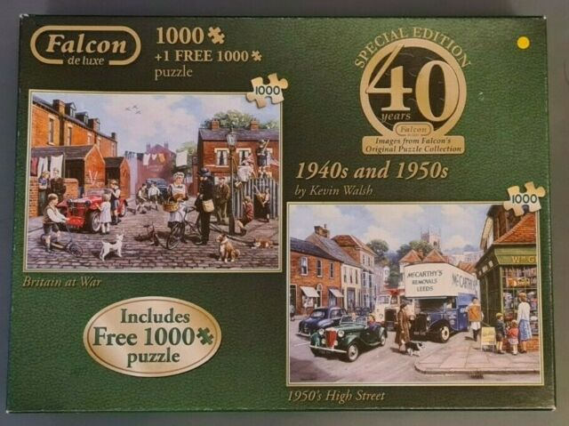 Falcon Special Edition 2 x 1000PC Jigsaw Puzzle 1940's & 50's by Kevin Web