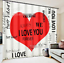 3D Letter love5 Blockout Photo Curtain Printing Curtains Drapes Fabric Window AU