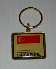 Wholesale Lot Of 10 Singapore Flag Metal Keychain, BRAND NEW