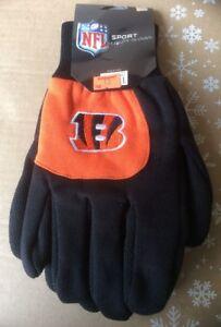 Cincinnati-Bengals-Black-with-Team-Logo-Licensed-NFL-Sport-Utility-Gloves-New