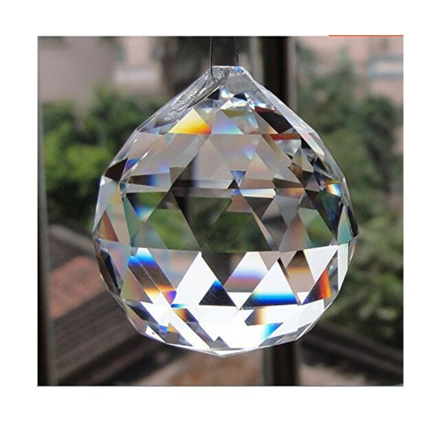 Strass #8550 40mm Clear Crystal Prism Vintage STRASS Full Lead Crystal Ball