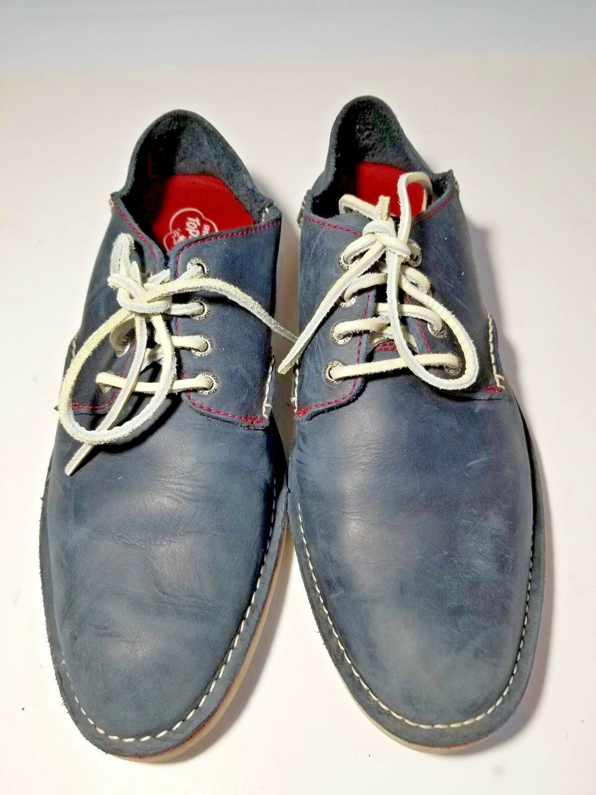 Sperry Men's Top-Sider Soft bluee Leather Casual shoes W Leather Laces Size 10.5