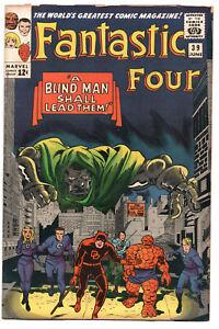 Fantastic-Four-39-Marvel-1965-VG-Jack-Kirby-Stan-Lee-Dr-Doom-Daredevil