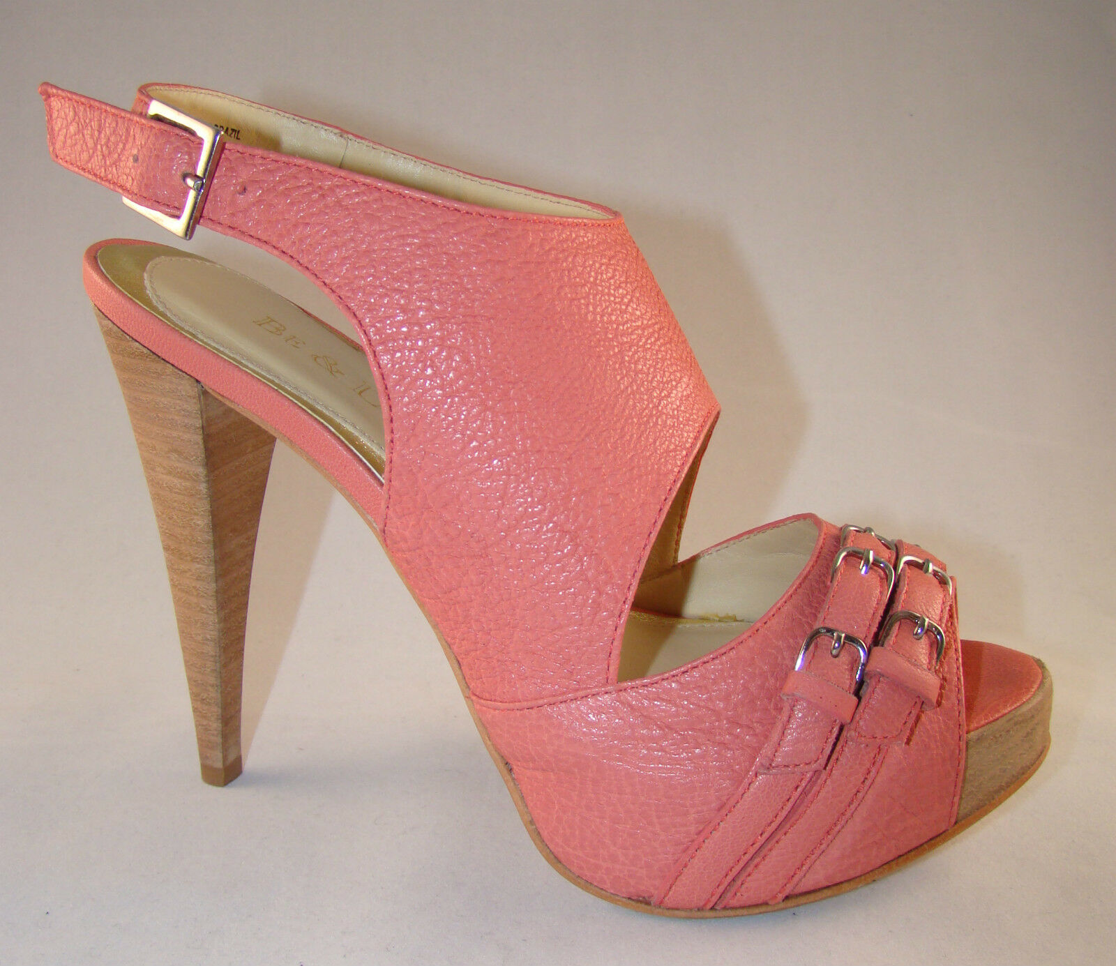 BE & D damen HEELS PUMPS schuhe NEW, IN BEAUTIFUL CORAL Farbe NEW, schuhe MADE IN BRAZIL f26bf7
