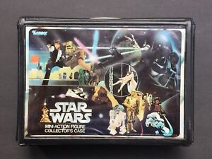 Star-Wars-Vintage-1977-Vinyl-Action-Figure-Case-W-Insert-Stickers-Trays-VG