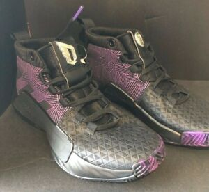 Details about NEW Adidas Marvel Dame Black Panther Youth Black Purple Basketball Shoes Sz 3.5