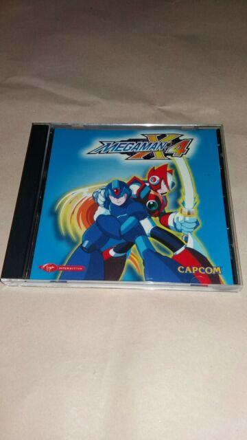 Mega Man Megaman X4 PC CD ROM 1998 Capcom ultra rare seulement cette 1 mis en vente. V G avec