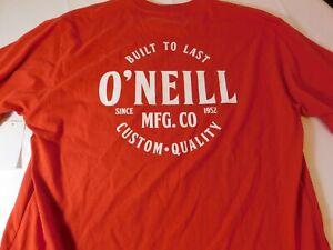 O-039-Neill-Uomo-T-Shirt-Maniche-Corte-Rosso-M-Medio-Moderno-Fit-Qualita-Controllo