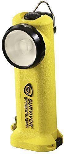 Streamolight 90541 Alkalisk överlevare C4 LED Höger vinkel Flashlight, Gul