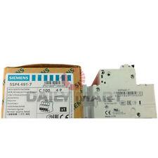 New In Box Siemens 5sp4491 7 Circuit Breaker 4 Pole 400v 10ka D70mm 100a Type C