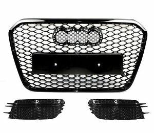 Pour Audi A6 4G RS6 Regardez Calandre Nid D'Abeille Grille Antibrouillard Voir