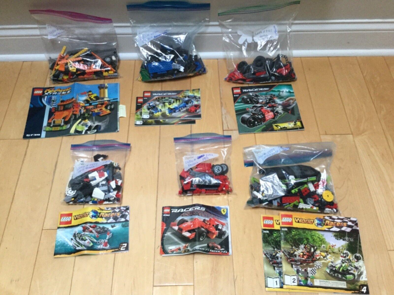 Lego Racers Ferrari 6739 8495 8167 8897 8362 8899 complete retirot