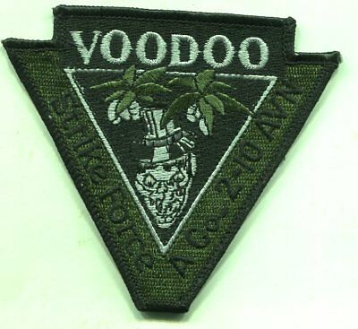 US Army Voodoo Strike Force A Co-2-10 AVN Green Patch