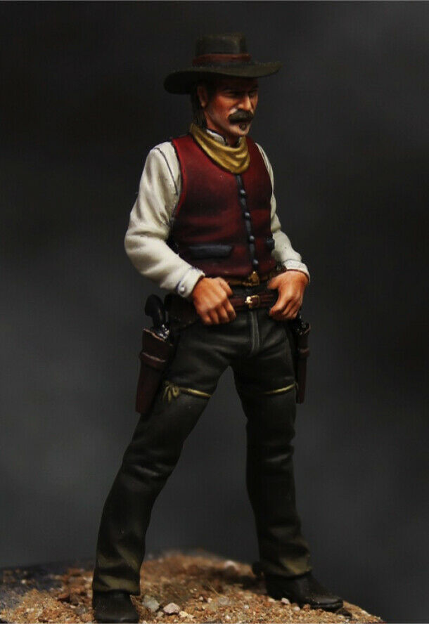 Gunslinger nel Wild West 54mm 1 32 Tin Painted giocattolo SoldierQualità dell'arte